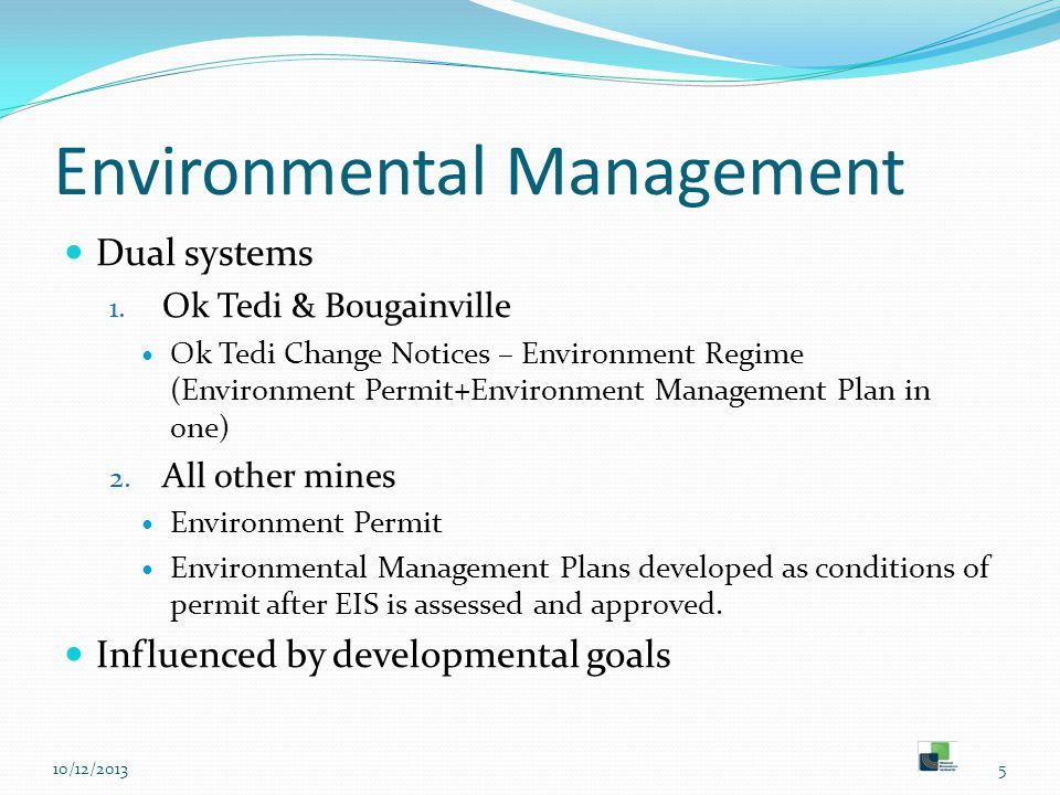 Environmental Management Dual systems 1.