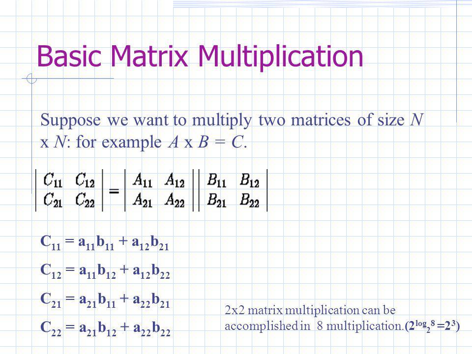 Strassens's Matrix Multiplication