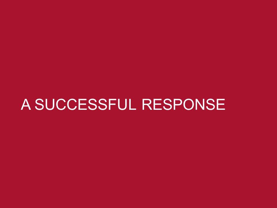 13 3/25/12 A SUCCESSFUL RESPONSE