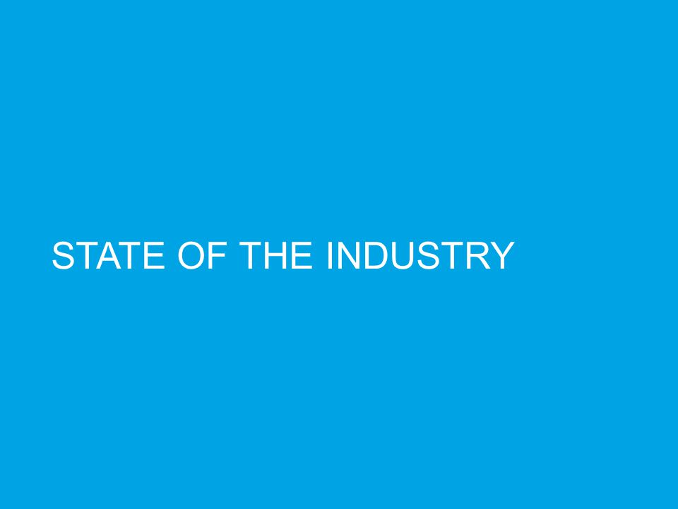 3 3/25/12 STATE OF THE INDUSTRY