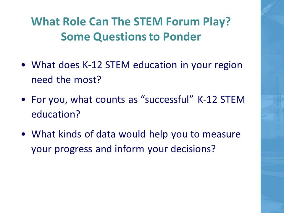 What Role Can The STEM Forum Play.