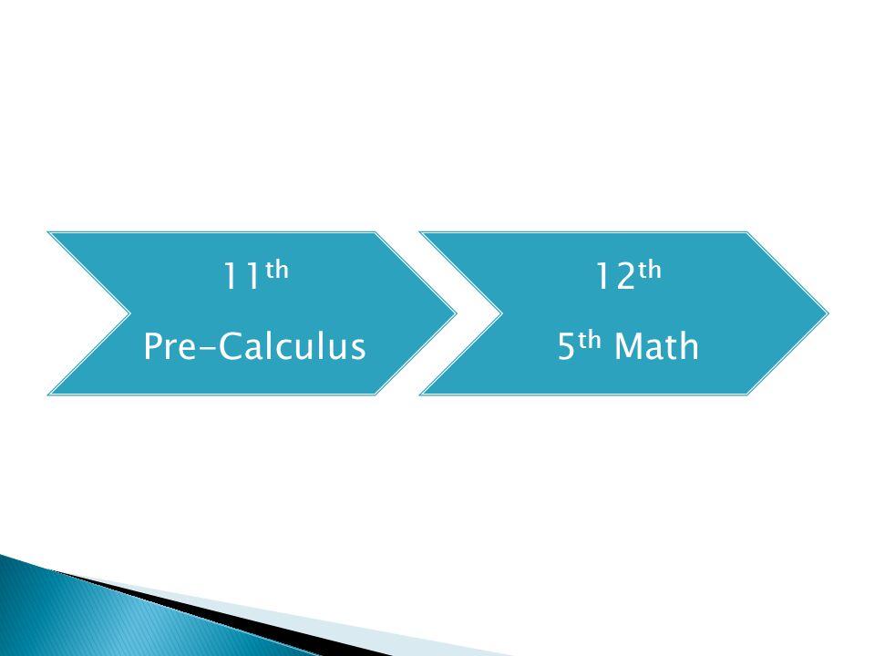 11 th Pre-Calculus 12 th 5 th Math
