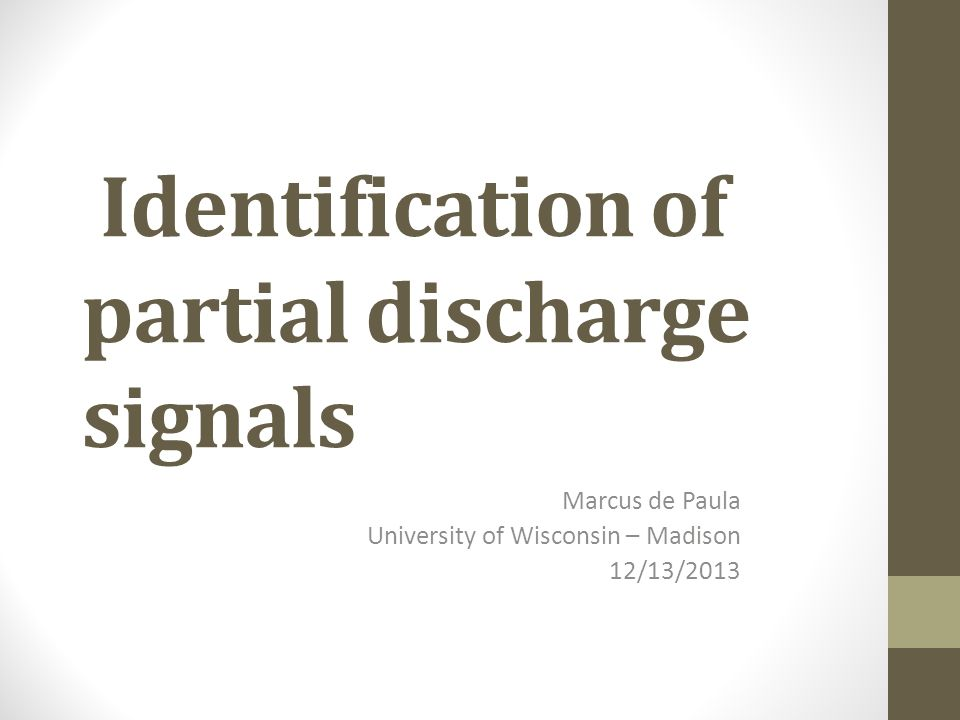 Background Partial Discharges: Localized dielectric breakdown of a small portion of a solid or fluid electrical insulation system under high voltage stress; Can lead to loss of insulating capacity and electrical system failure.