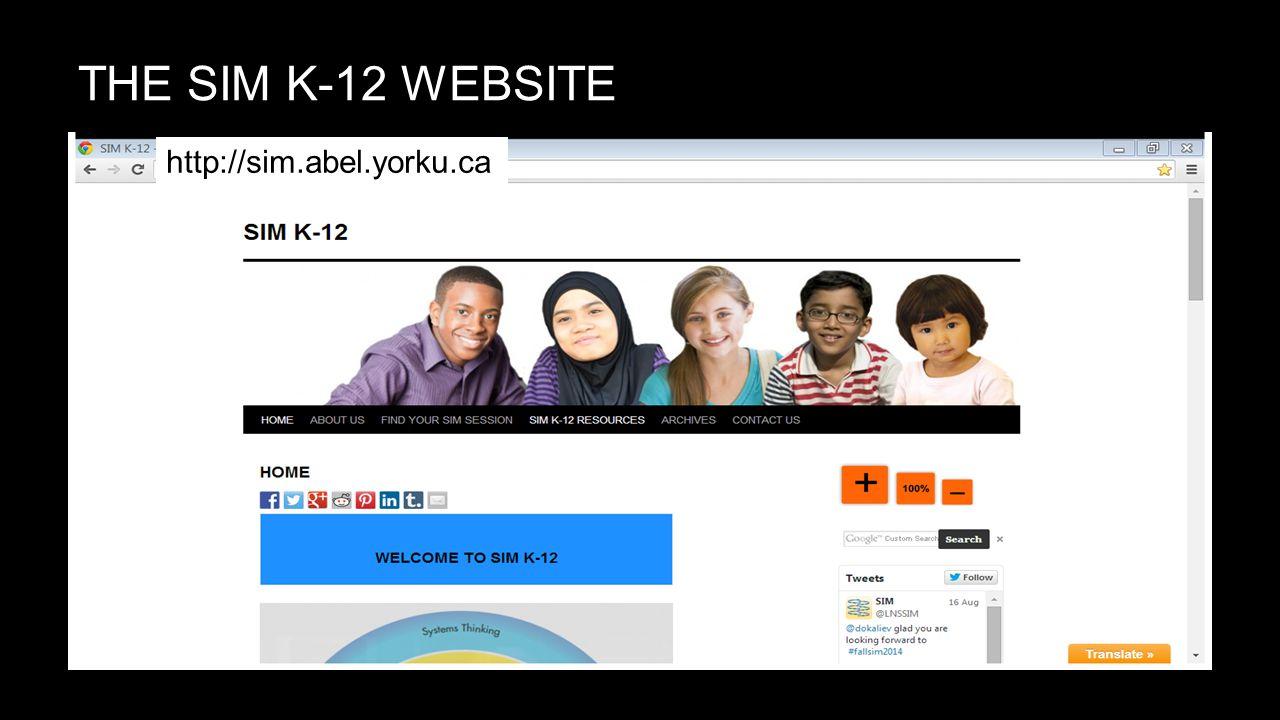 THE SIM K-12 WEBSITE http://sim.abel.yorku.ca