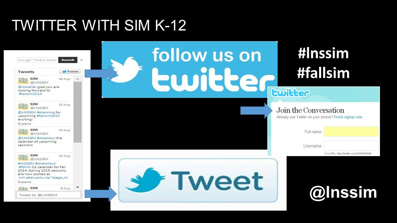 TWITTER WITH SIM K-12 #lnssim #fallsim @lnssim