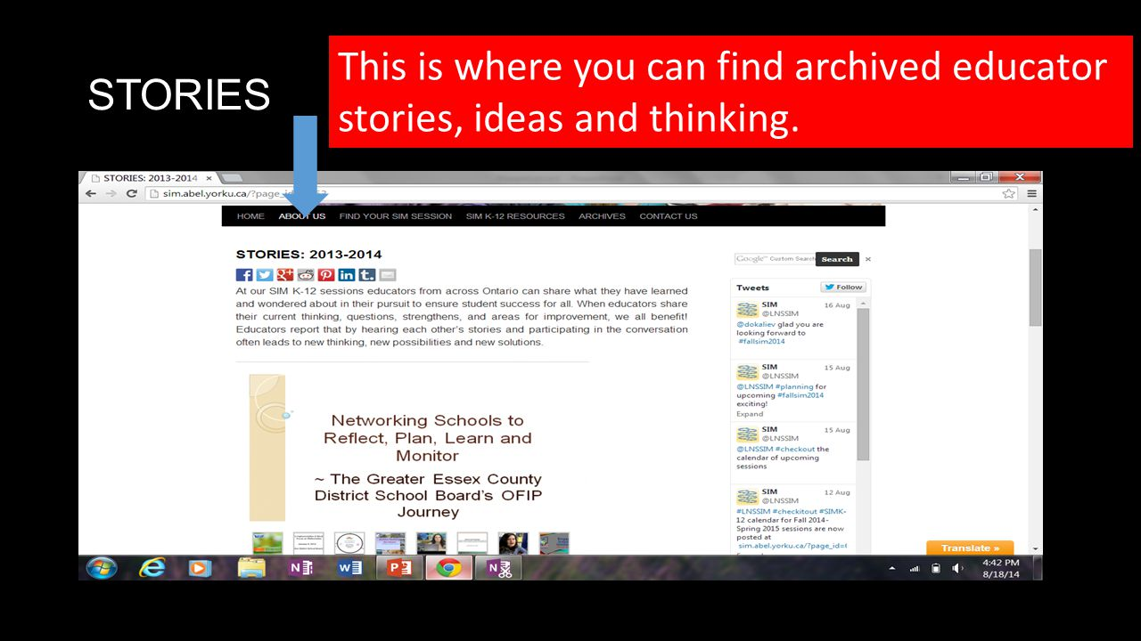 STORIES This is where you can find archived educator stories, ideas and thinking.