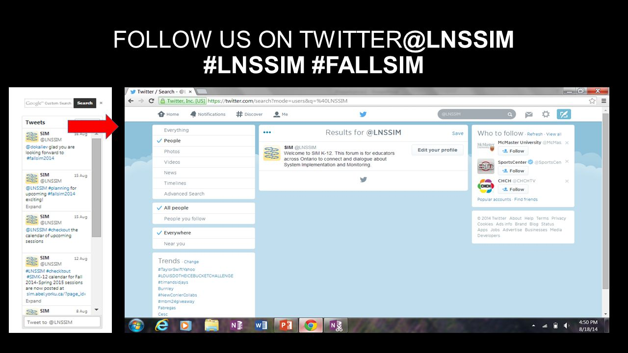 FOLLOW US ON TWITTER@LNSSIM #LNSSIM #FALLSIM