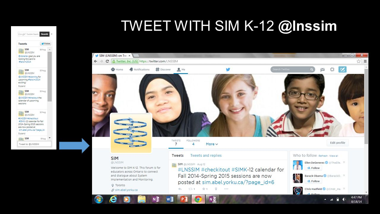 TWEET WITH SIM K-12 @lnssim