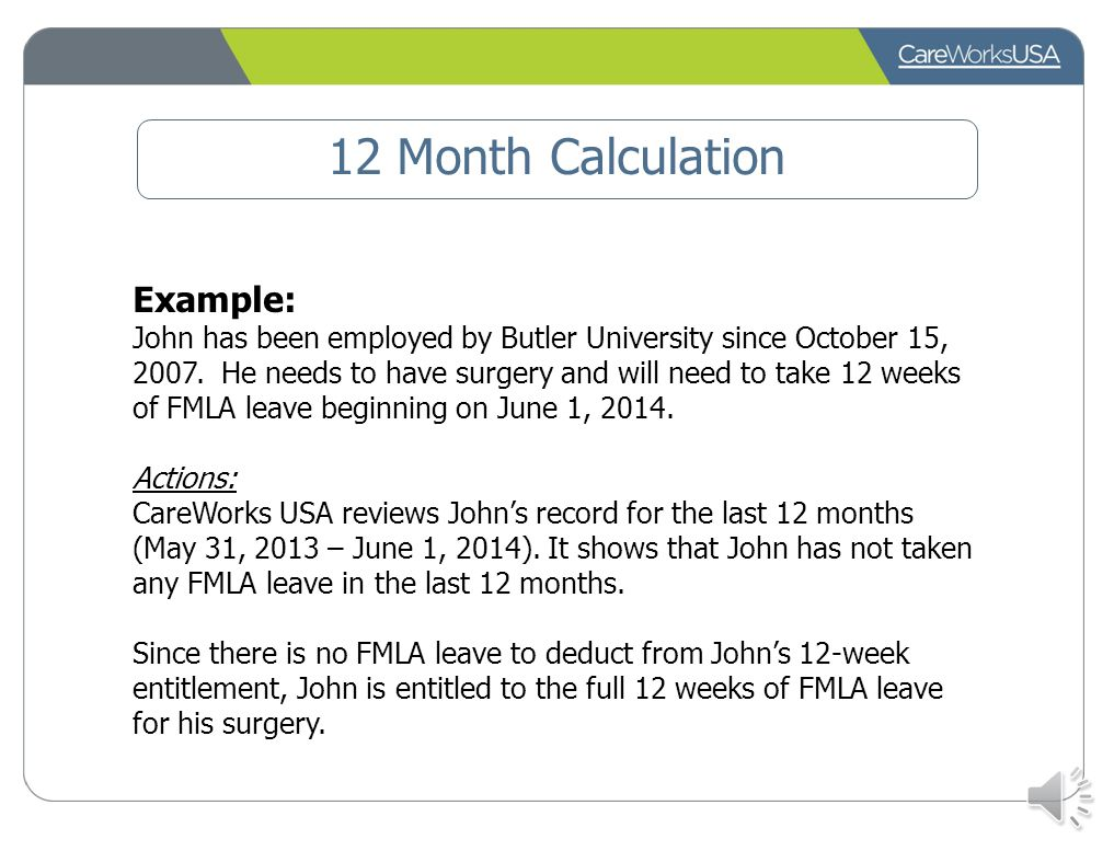 12 Month Calculation The Butler University uses a Rolling Calendar Back Calculation This method looks back over the last 12 months from the date of th