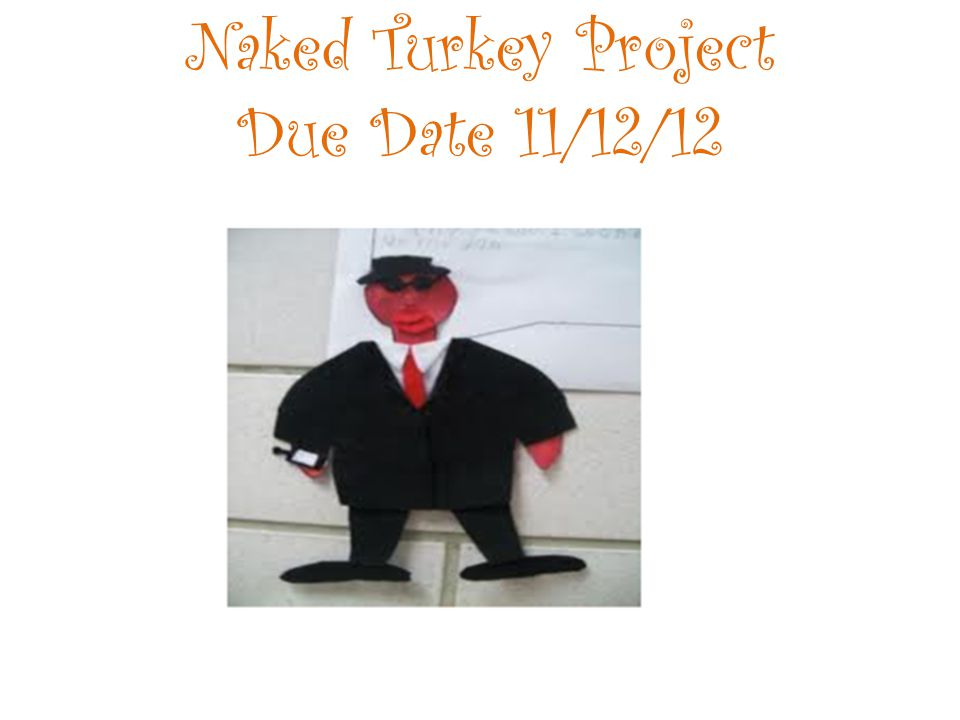 Naked Turkey Project Due Date 11/12/12
