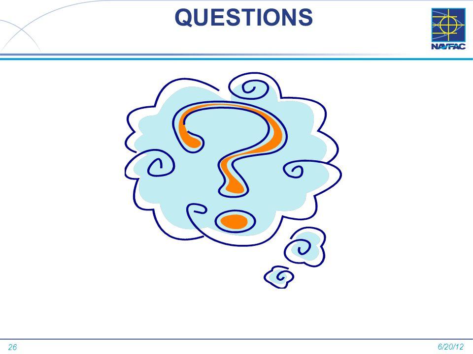 26 QUESTIONS 6/20/12