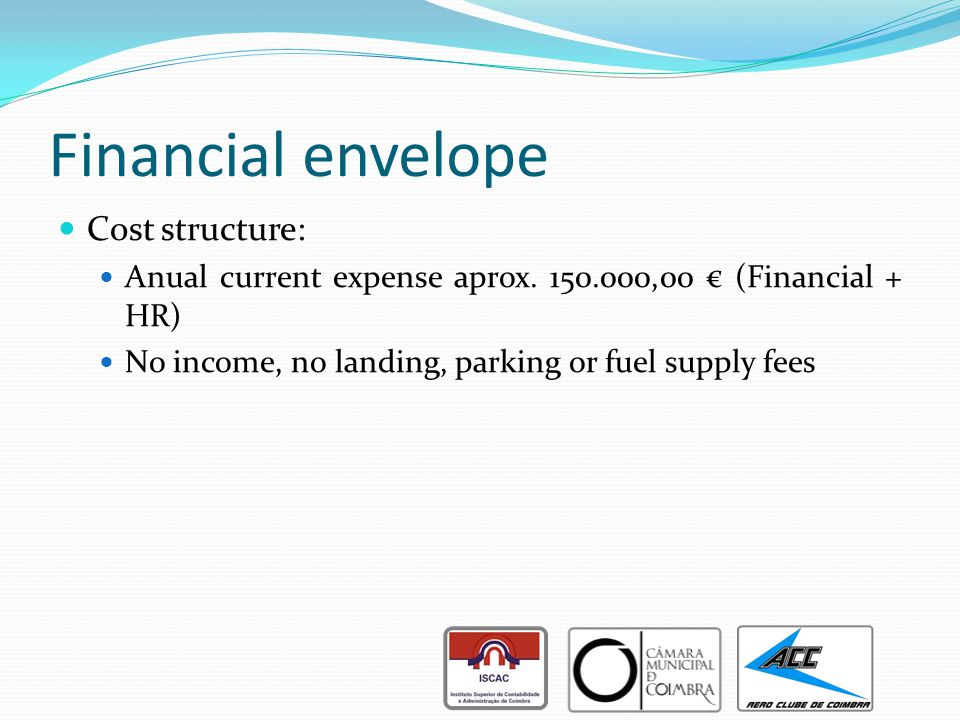 Financial envelope Cost structure: Anual current expense aprox.