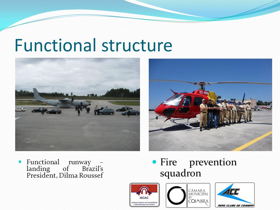 Functional structure Fire prevention squadron Functional runway – landing of Brazil's President, Dilma Roussef
