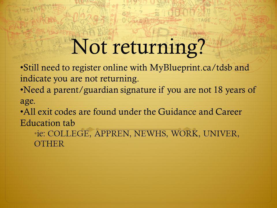 Not returning.