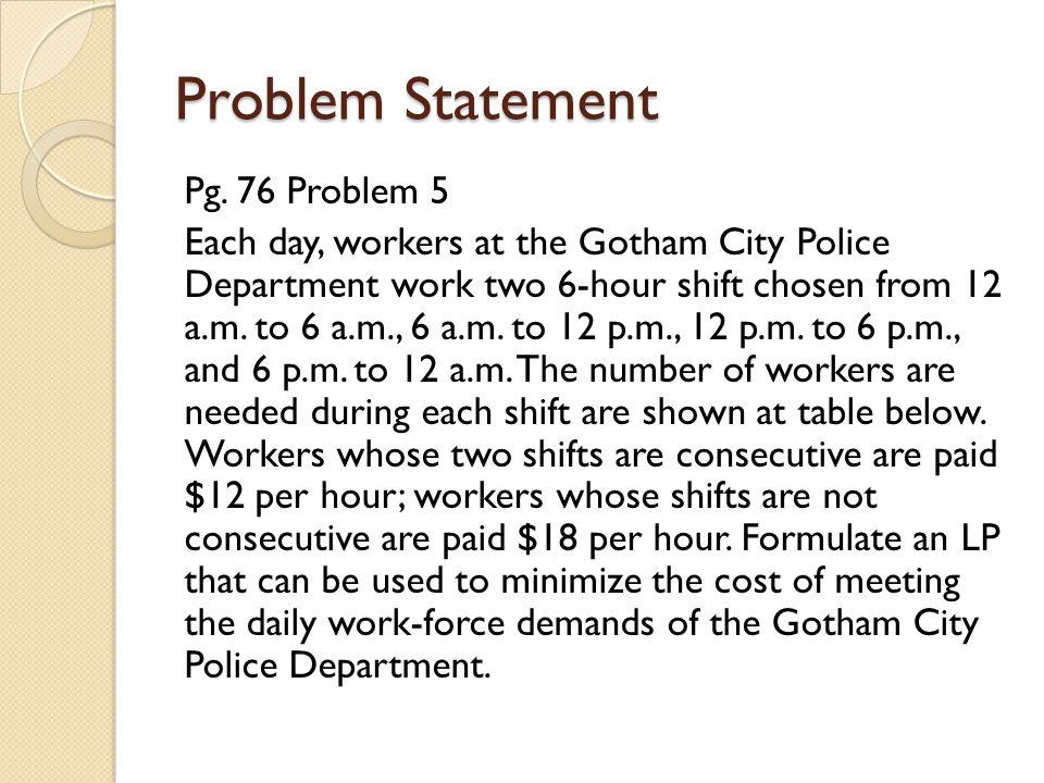 Problem Statement Pg.