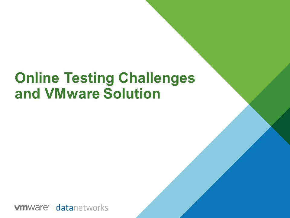 Online Testing Challenges and VMware Solution