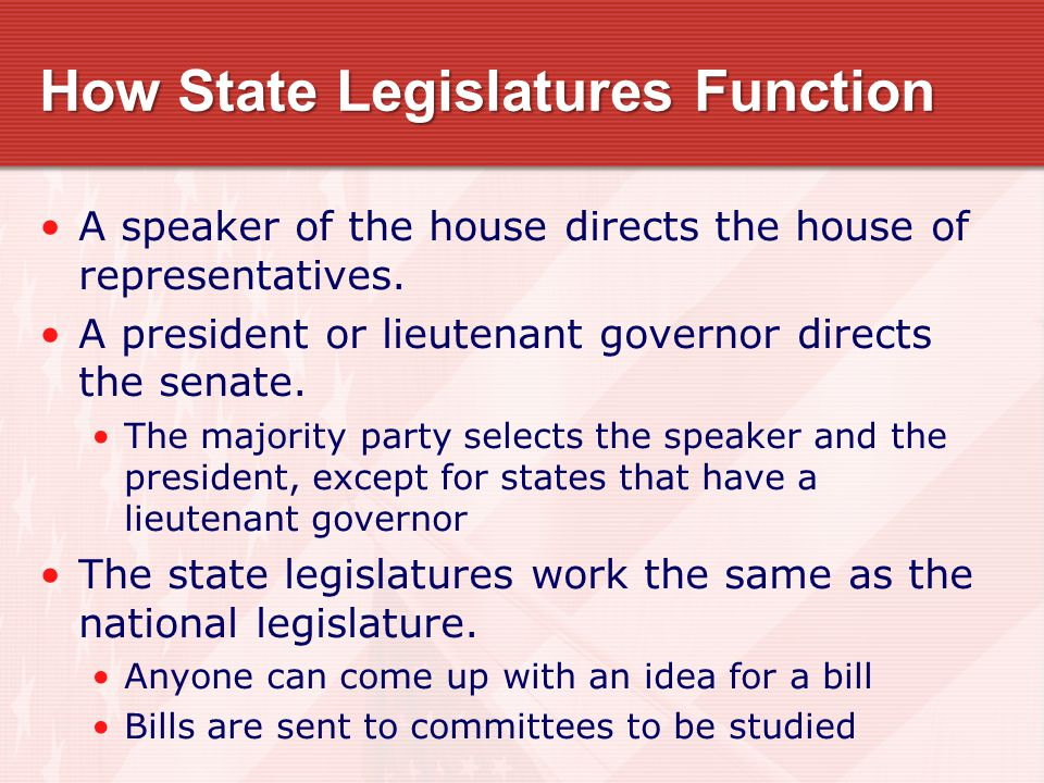 Legislative Apportionment Every 10 years, after the national census, state legislature re-examine congressional districts State legislatures divide the state into a set of districts for senators and a different set for representatives.