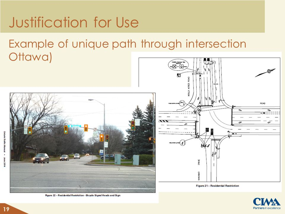Justification for Use Example of unique path through intersection Ottawa) 19