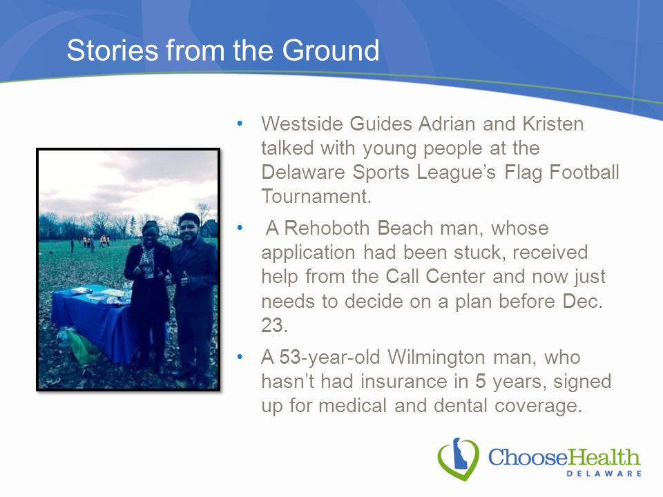 Stories from the Ground Westside Guides Adrian and Kristen talked with young people at the Delaware Sports League's Flag Football Tournament. A Rehobo