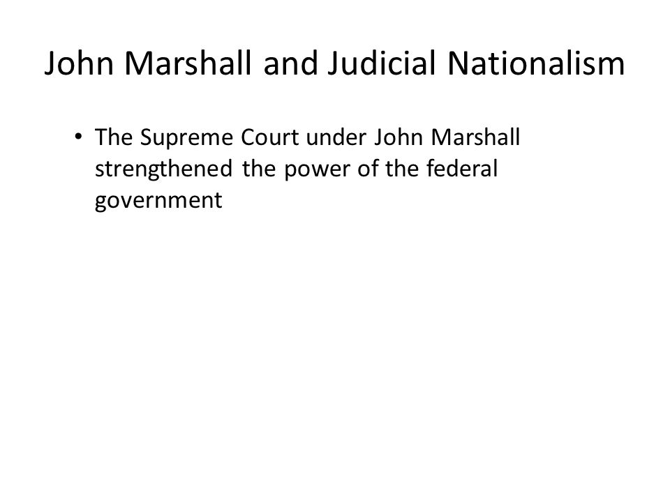 McCulloch v.Maryland (1819) Maryland tried to destroy a branch of the Bank of the U.S.