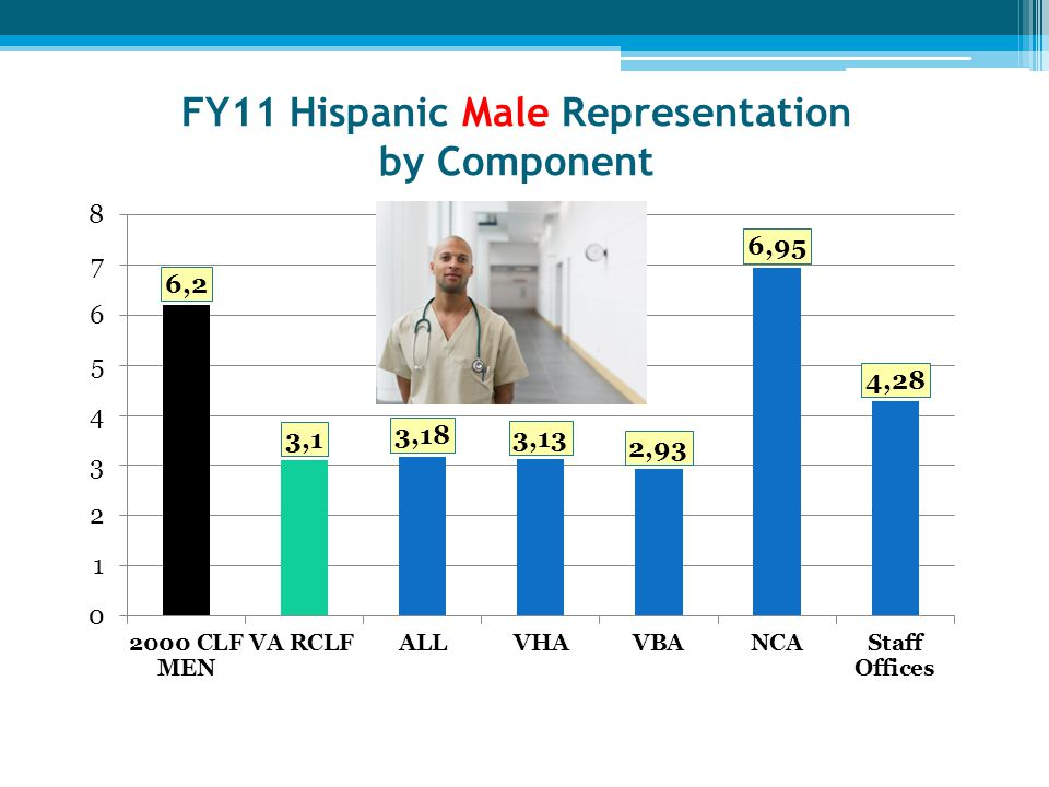 FY11 Hispanic Male Representation by Component
