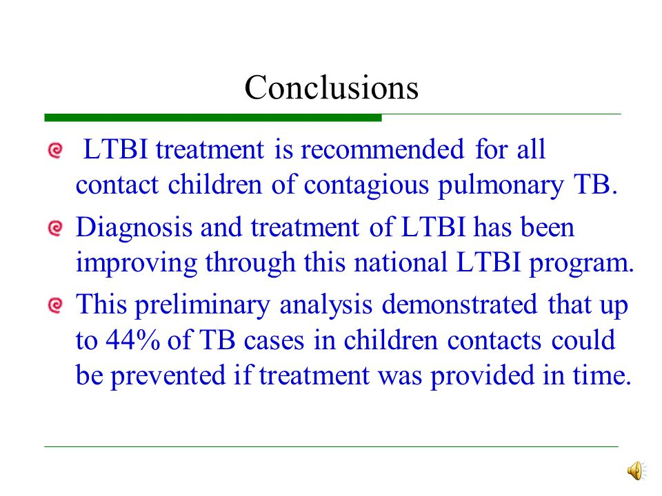 If They Received LTBI Treatment Early The incidence rate of 1379~1562 per 100000 person in those TST (+) but who did not received LTBI.