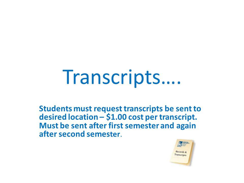 Transcripts….