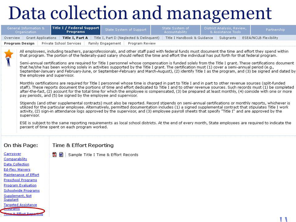 Data collection and management Massachusetts Department of Elementary and Secondary Education 12