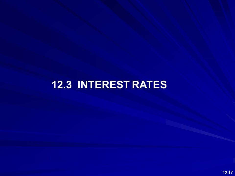 12-17 12.3 INTEREST RATES