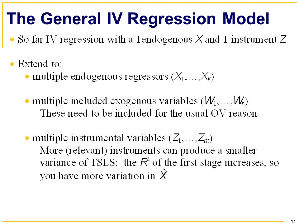 17 The General IV Regression Model