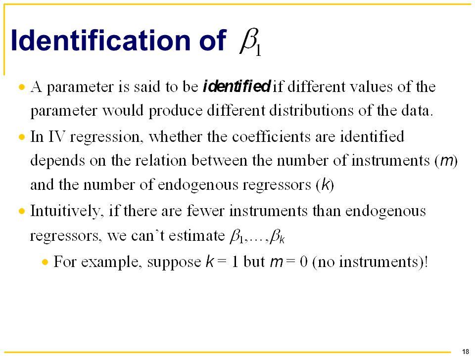 18 Identification of