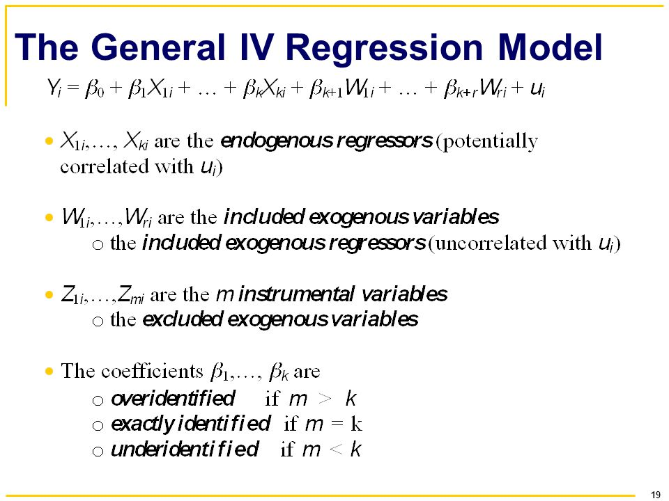 19 The General IV Regression Model