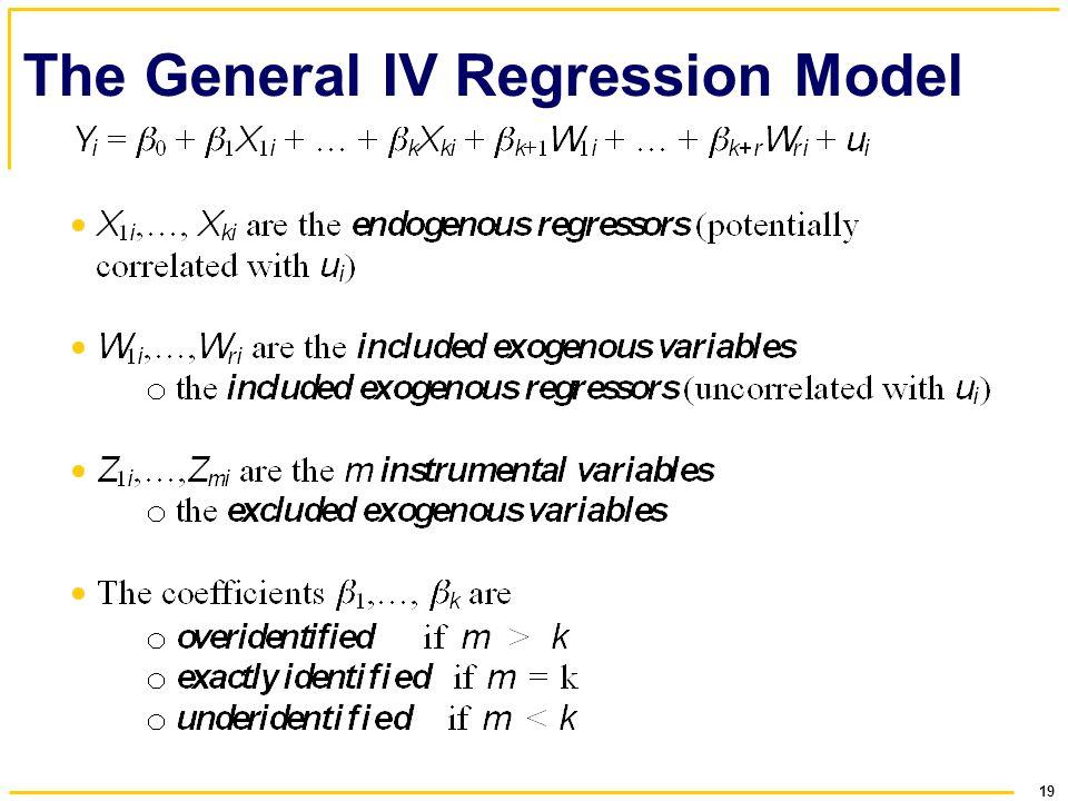 19 The General IV Regression Model