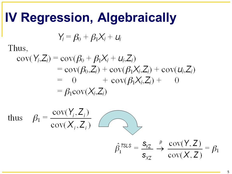 5 IV Regression, Algebraically
