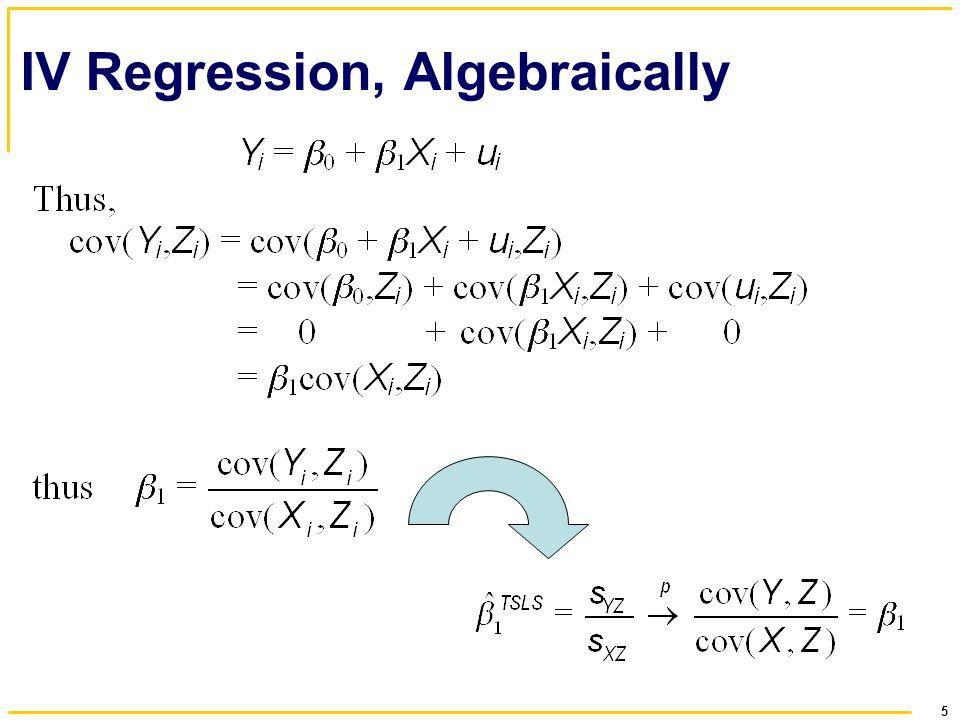 5 IV Regression, Algebraically