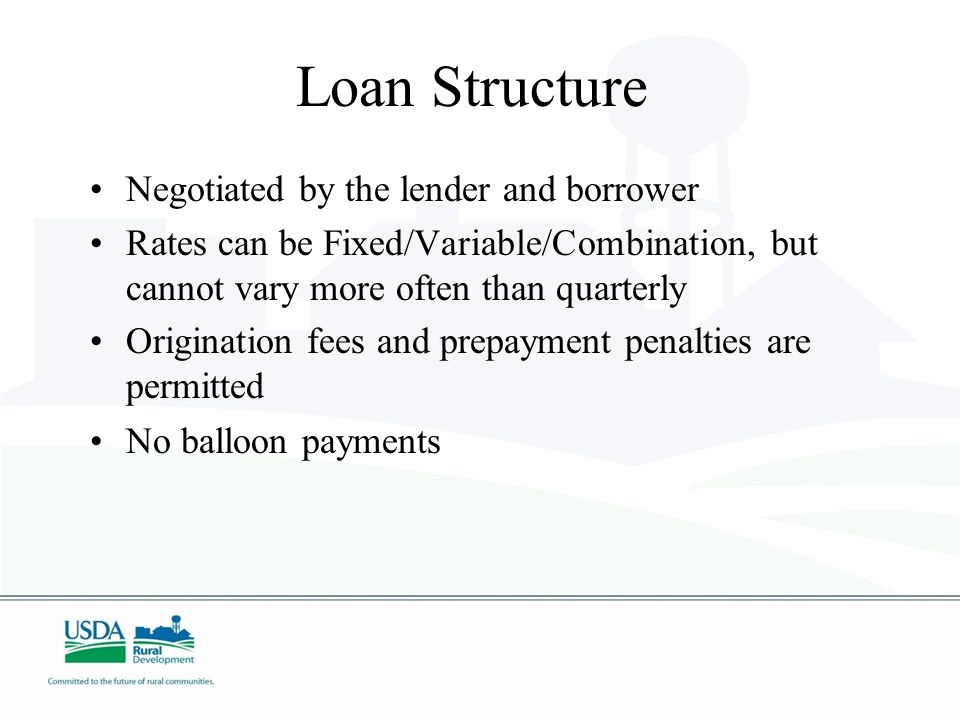 Guaranteed Loan Limits Minimum loan amount is $5,000 Maximum loan amount is $25,000,000 Loan amount cannot exceed 75 percent of the total eligible project costs