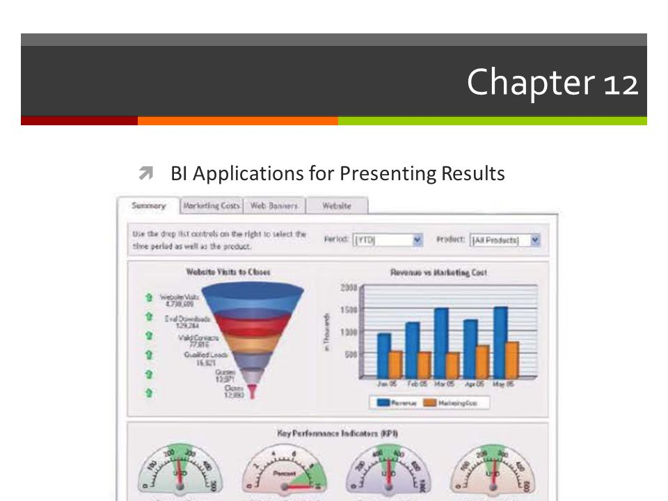 Chapter 12  BI Applications for Presenting Results