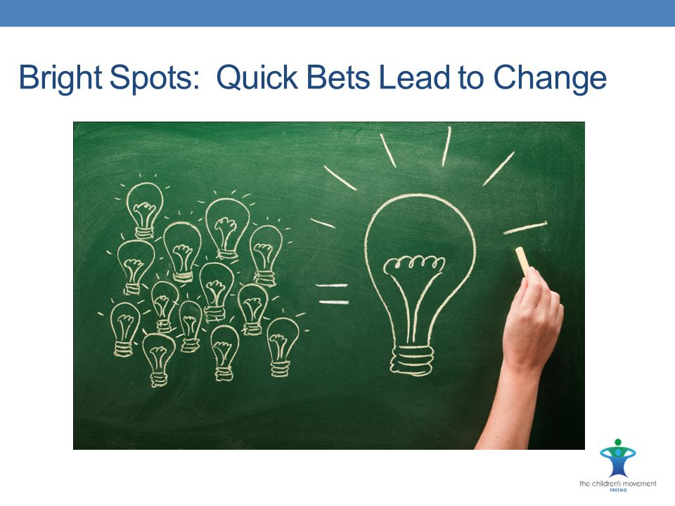Bright Spots: Quick Bets Lead to Change