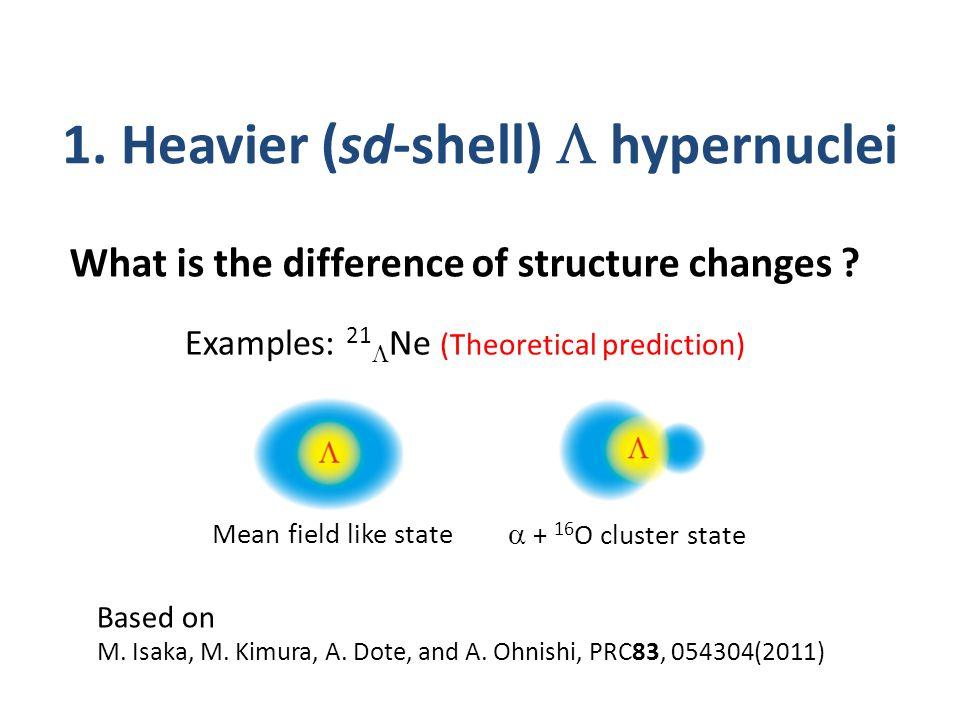 1. Heavier (sd-shell)  hypernuclei Based on M. Isaka, M.