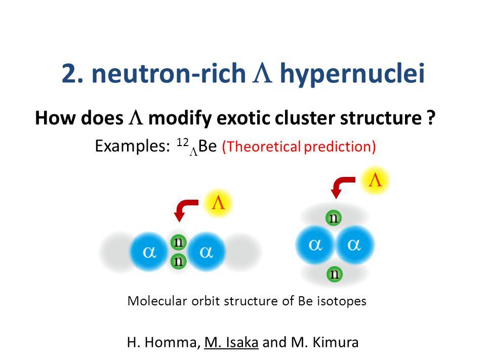 2. neutron-rich  hypernuclei H. Homma, M. Isaka and M.