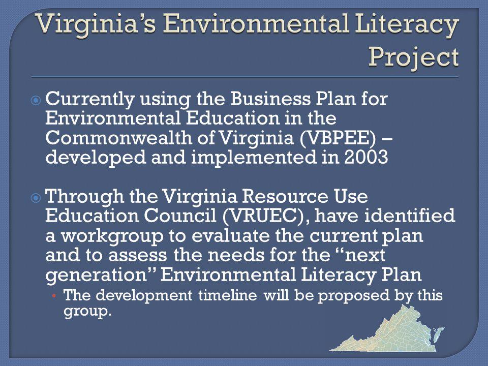 CONTACT INFORMATION Barbara Young Science Specialist Virginia Department of Education Chair, Virginia Resource Use Education Council (804) 225-2676 Barbara.Young@doe.virginia.gov
