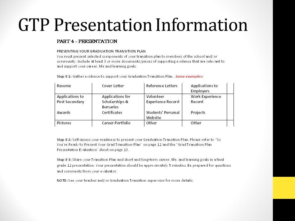 GTP Presentation Information