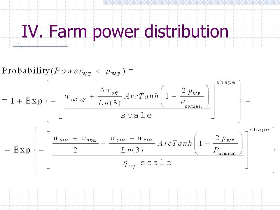IV. Farm power distribution