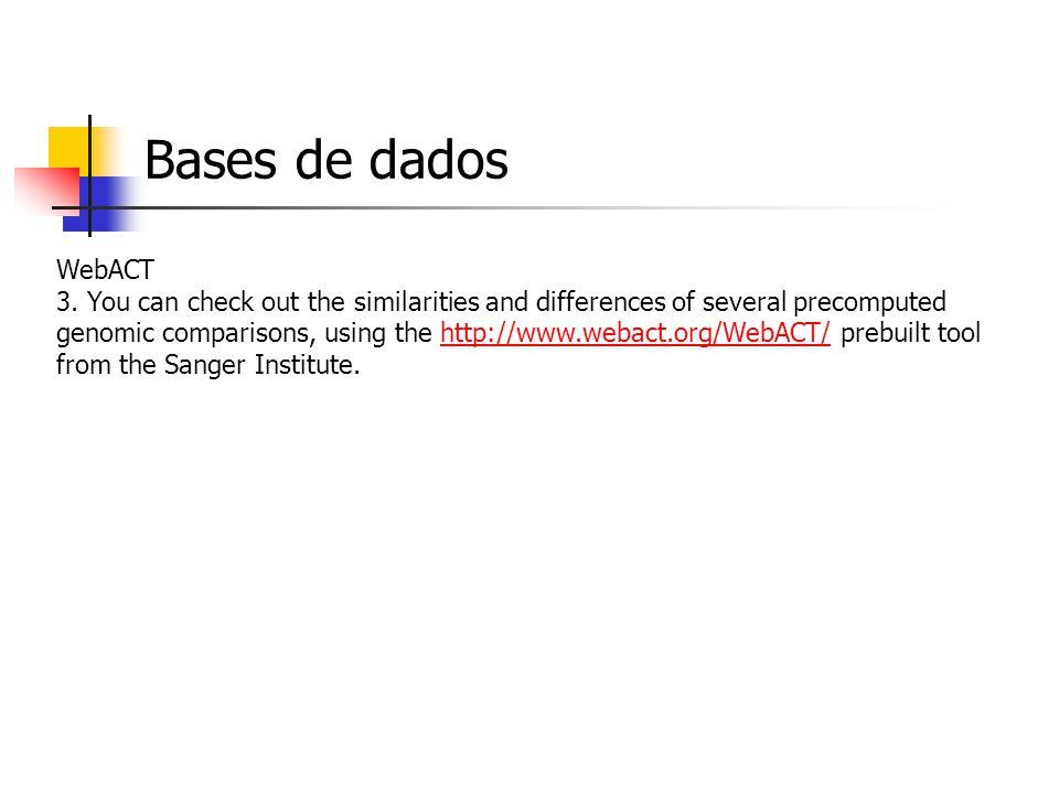 Bases de dados WebACT 3.
