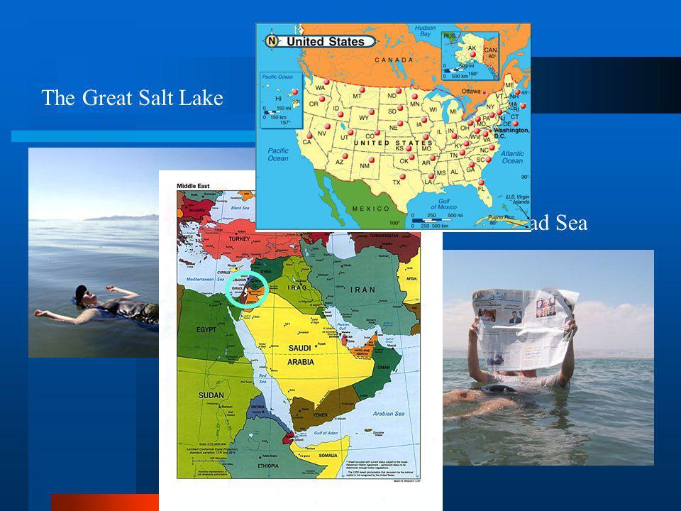The Great Salt Lake The Dead Sea
