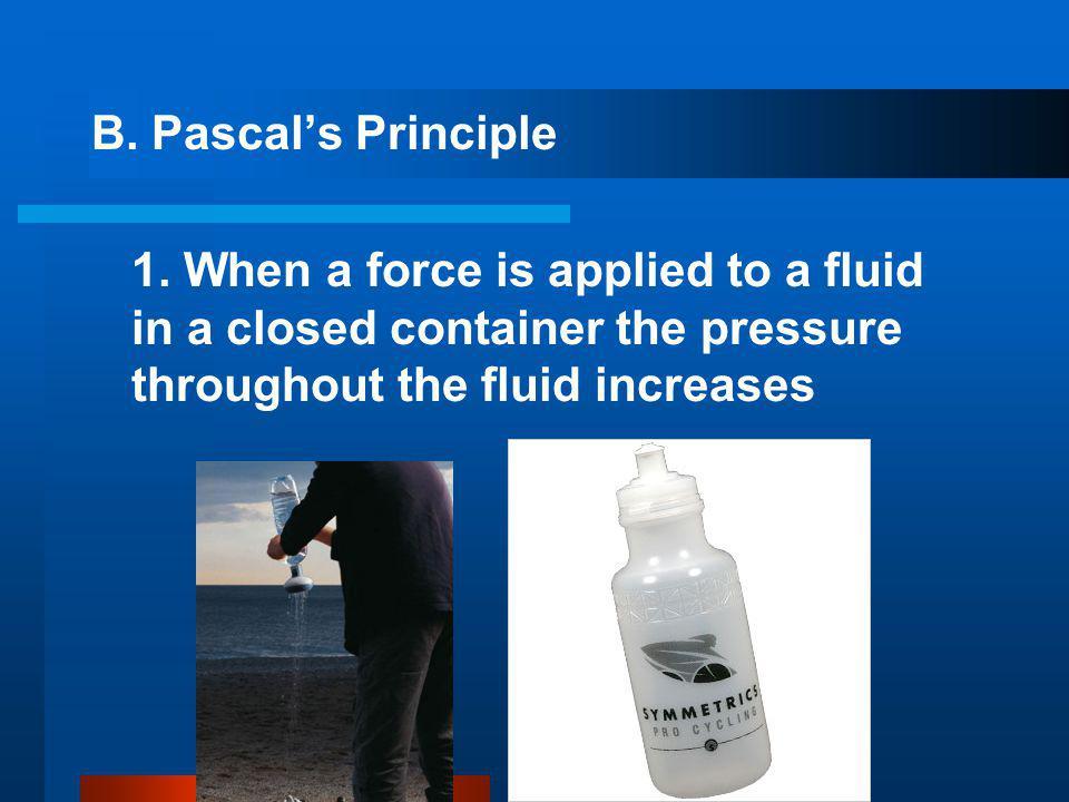 B.Pascal's Principle 1.