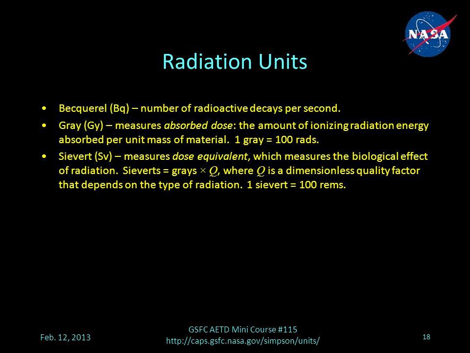 Radiation Units Feb.