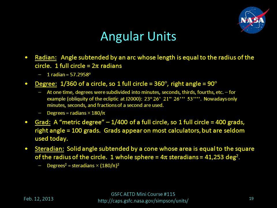 Angular Units Feb.