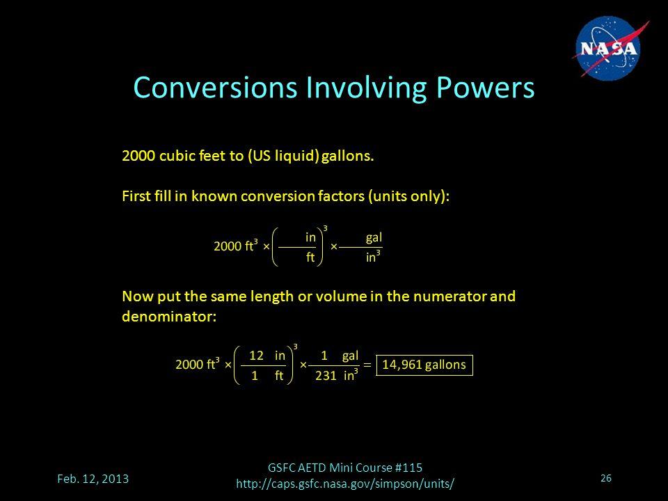 Conversions Involving Powers Feb.