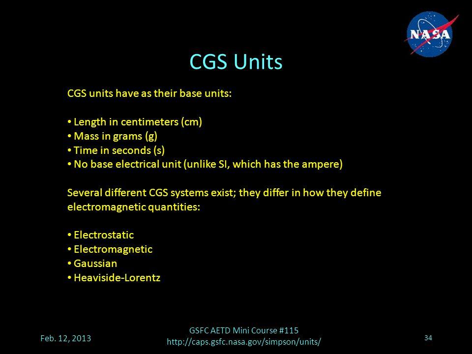 CGS Units Feb.